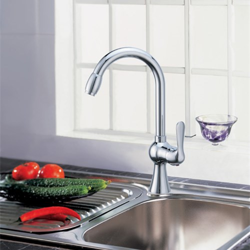 Chrome Plating Brass Single Handle Kitchen Sink Tap 0809