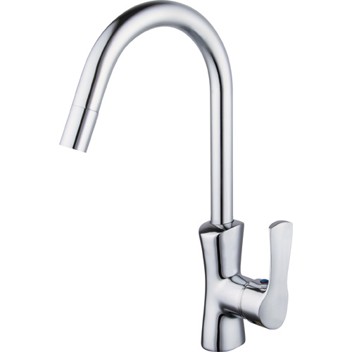 Chrome Plating Brass Single Handle Kitchen Faucet 0818