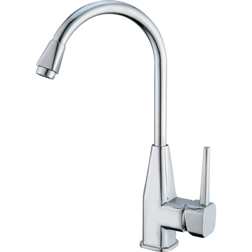 Chrome Plating Brass Single Handle Kitchen Sink Tap 0827