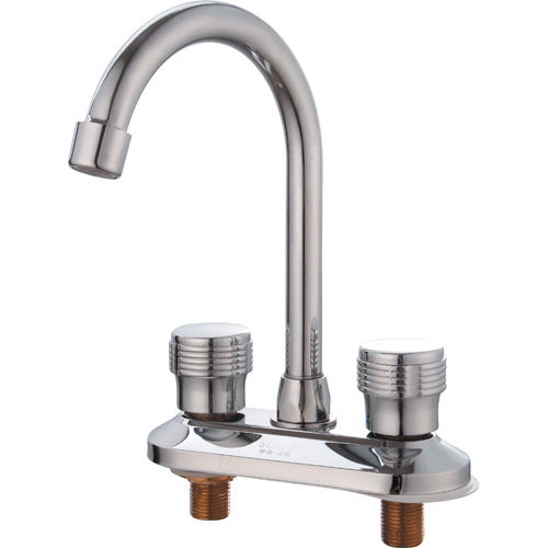 Chrome Plating Brass Two Holes Kitchen Faucet 0921