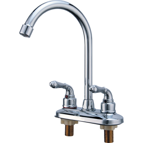 Chrome Plating Brass Two Holes Kitchen Sink Tap 0918