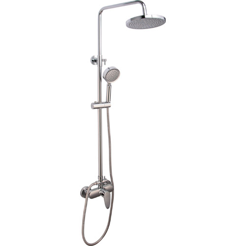 Brass Chrome Plating Bathroom Rain Spa Mixer Shower Set 0401