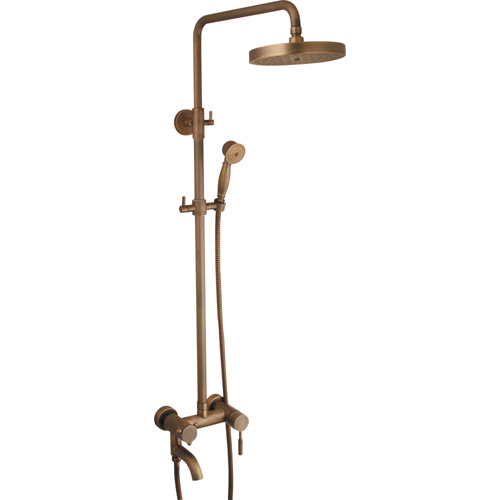 Brass Chrome Plating Bathroom Rain Spa Mixer Shower Set 0410