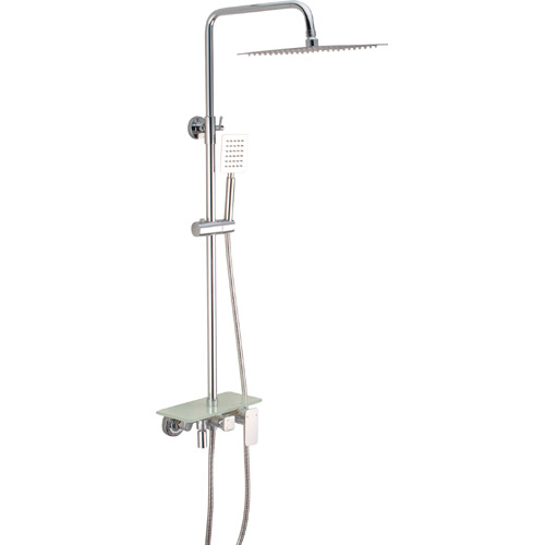 Brass Chrome Plating Bathroom Rain Spa Mixer Shower Set 0358
